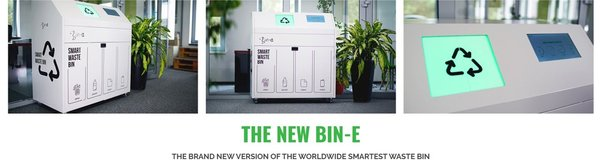 The New Bin-E automatic waste sorting System automatische afvalscheiding smart waste bin Green Trash BV